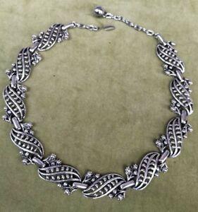 Vintage Faux Marcasite Necklace Choker, 40 cm