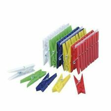 50 piece Plastic Clothespins Assorted Colors, Laundry Hanging Arts & Crafts +