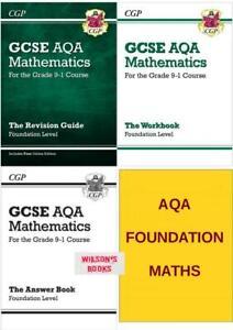 GCSE AQA  FOUNDATION MATHS REVISION & WORKBOOK COMPLETE 3 BOOK SET