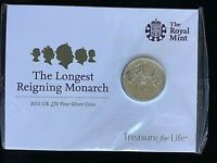 2015 Longest Reigning Monarch £20 Silver coin UNC