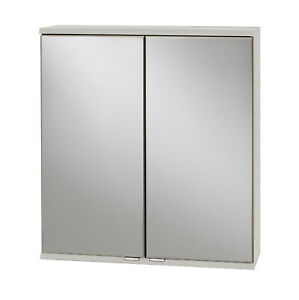 Spiegelschrank Badezimmerspiegel Badspiegel Badschrank 2 Türen 60 cm breit weiss