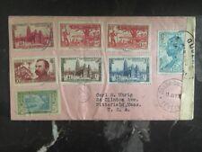 1943 Ivory Coast Censored Cover To Pittsfield Ma USA