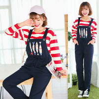 Cute Fishes Maternity Dungarees Trousers Pregnancy Jumpsuits Slim 6 8 10 12 14