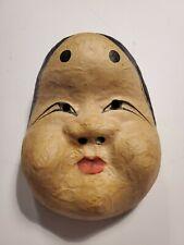 Vintage Japanese Plastics Woman-shaped MASK Noh mask Ornaments Display