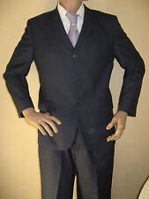 WORN ONCE BLUE PIERRE CARDIN PURE WOOL SINGLE BREAST SUIT 40R CHEST 34 WAIST 30L
