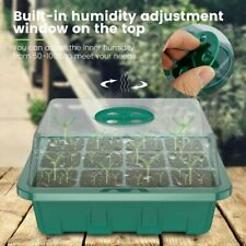 4x 12 Grids Nursery Pot Plant Anbautablett - Mini Greenhouse Propagation Etikett