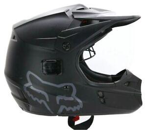 Fox Racing Helmet V1 Matte Black Motocross Bike Bicycle Adult Size Medium