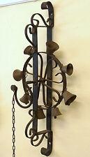 Antique Wrought Iron & Bronze 8 Bell Glockenspiel Hearts German c1920
