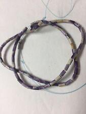 Authentic Wampum Beads, approx 3mm X 5mm tubes. Quahog Shell. 1 Strand