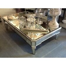 Antique silver trim coffee table mirror top/Mirror coffee table Mirror table