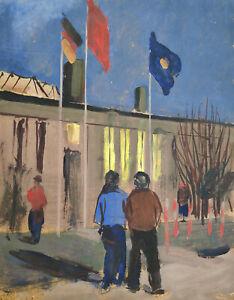 "Brigitte Köhler-Kliefert (1924 Stralsund - 2001 Berlin) ""Vor dem Kulturhaus"" /Öl"