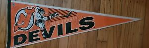 New Jersey Devils hockey team signed autographed pennant NHL banners