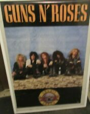 GUNS N ROSES POSTER NEW 1987 RARE VINTAGE COLLECTIBLE OOP SITTING WALL