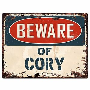 PBFN0229 Beware of CORY Plate Rustic Chic Sign Home man cave Decor Funny Gift
