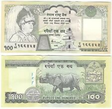 Nepal 100 Rupees 2002 P-49a.2 UNC Uncirculated Banknote - Rhino