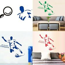 Football Soccer We Are Champion Wall Decal Stickers Home Decor Mural Kids Room