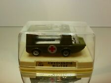 MINI MIRA 128 STRETCHA FETCHA AMBULANCE MILITARY - GREEN 1:60?- EXCELLENT IN BOX