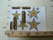 STICKER,DECAL ROCKSTAR ENERGY DRINK SHEET 8 STICKERS LARGE STICKER