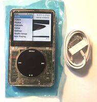 iPod Classic 6th Generation 80GB Transparent Clear Black Custom New/Refurbished