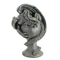 Mythical Dragon Wrap Sculpted Castle Home Garden Gallery Decor
