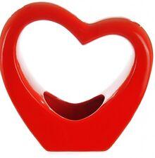 Heart Shaped Design Table Flower Bud Vase Ceramic In Red Black & White