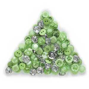 30 Gram Green Resin Buttons Sewing Scrapbooking Craft Handwork Decor 12-15mm