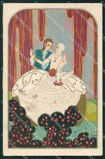 Leonem Leonessi Italian Art Deco Degami serie 1047 postcard cartolina QT6704