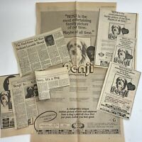 Vintage Movie Newspaper Clippings Lot Benji 1970's Advertising