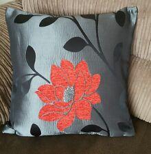 5 18 pulgadas De Moda Rojo, Negro y Plata Cushion Covers? por qué comprar de ahora?