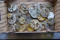 30 Antique Pocket Watch Plates (1043) Mechanisms Movements for Parts or Repair