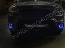 Blue Halo Angel Eye Fog Lamp Driving Light Kit for 2014 2015 Kia Soul