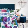 Bluebellgray Esteban Water-Color Floral 3-Piece Cotton Duvet Cover Set, Queen