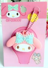 My melody blue bowknot silica gel Key Met Protective Cover anime key ornament