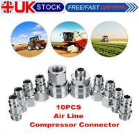"m//f plugs garage 8pc BSP 1//4/"" female coupler fittings coupling air tools line"