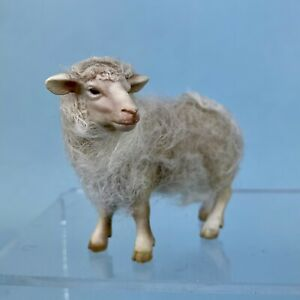 """Beautiful Small Normandy Sheep for Antique Doll Accessory 2.5"""" by 3"""""""