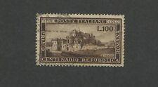 1949 Italy Roman Republic Centenary The Vascello, Rome Postage Stamps #518