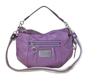 New NWT Coach Purple Grape Patent Leather Hobo Shoulder Crossbody Purse 15790