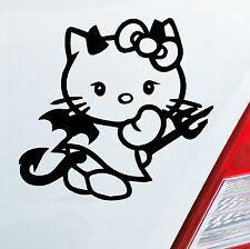 AUTO moto adesivi hello kitty diavolo TITTY Devil Sticker DUB OEM JDM 244