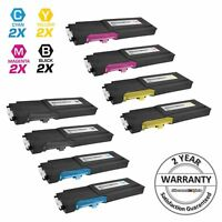 8PK BLACK Cyan Magenta Yellow Toner Set for Dell C2660dn C2665dnf HY Cartridges