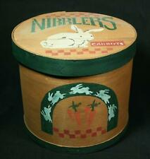 Vintage Country Woodworks Hand Painted Nibblers Rabbit Shaker Box