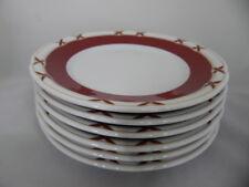 Bauscher Frühstücksteller 20 cm flache Teller Charlottenburg bordeaux - gold NEU