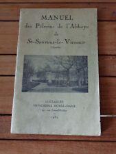 MANUEL des Pèlerins de l'Abbaye de SAINT SAUVEUR LE VICOMTE 1932 Normandie