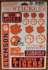 18 Clemson University Tigers Orange paw Decal Stickers Football RU Orange NCAA