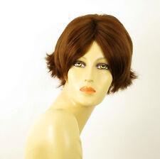 perruque femme 100% cheveux naturel châtain clair cuivré ref ESTHER 30