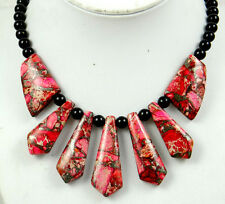 Natural SEDIMENT JASPER &agate Handmade Gemstone Jewellery Necklace  DN2