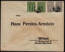 Österreichische Briefmarken (1918-1944) mit Mehrfachfrankatur