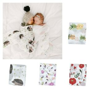 Baby Swaddle Blanket Unisex Wrap Soft Cotton Muslin for Boys and Girls