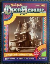*Hollywood Magic Castle* 40th Anniversary Program 2003 Academy of Magical Arts