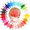 30Pcs Baby Girls Hair Bow Headbands Mix Color Ribbon Bows Head Wear For Toddlers