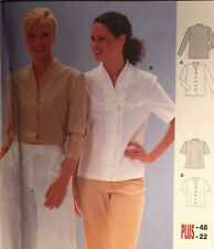 NEW CURRENT 'BURDA' PATTERN 8981  BLOUSE SHIRT TOP SIZES 10-22